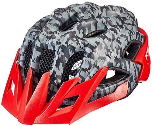 KED Status Helm Kinder Camouflage Anthracite/red Kopfumfang M | 52-59cm 2020 Fahrradhelm