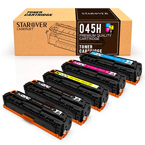 STAROVER Compatible Toner Cartridges Replacement for Canon Cartridge 045 045H CRG-045H for Canon Color imageCLASS MF634Cdw MF632Cdw LBP612Cdw MF632 MF634-5 Pack
