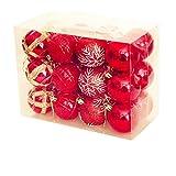 SONGHJ 24 Piezas 6cm Árbol De Navidad Decoración Bola Bola Oro Plata Plástico Colgante Bola Adornos Decoraciones para El Hogar Año Nuevo