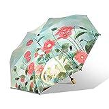 LEIAZ Ombrello Portatile Antivento, Ombrello Pieghevole Compatto Resistente Leggero con Ombrello da Viaggio per Uomini e Donn