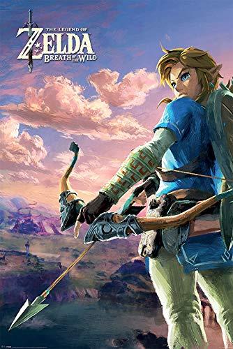 The Legend of Zelda Breath Of The Wild - Hyrule Scene Landscape Poster Standard