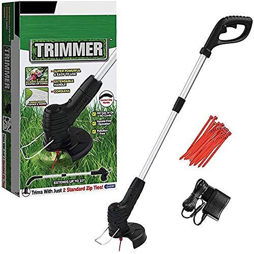 H&J Strimmer Handheld tagliasiepi Leggero telescopica Grass Trimmer (24 plastica Lame, 130 Millimetri Larghezza di Taglio)