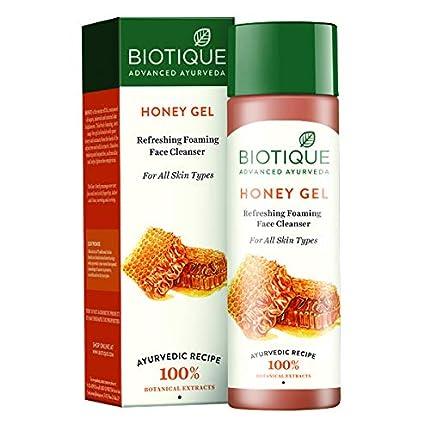 Biotique Miel Gel Aligerante Espuma Limpiador para Todo Tipo de Piel 120 Ml I Todo Tipo de Piel I 100% Gel Libre de Jabón I Natural & Orgánico I Mezclado Con Miel Puro Y Extractos