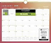 AT-A-GLANCE Monthly Wall Calendar January 2018 - December 2018 14-7/8 x 11-7/8 Wirebound Aurora (W1054-707-13) [並行輸入品]