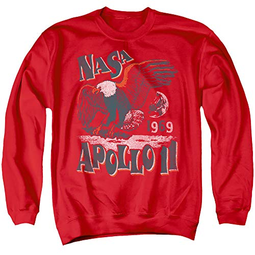 NASA Sweatshirt Apollo 11 Eagle Red Pullover, Large