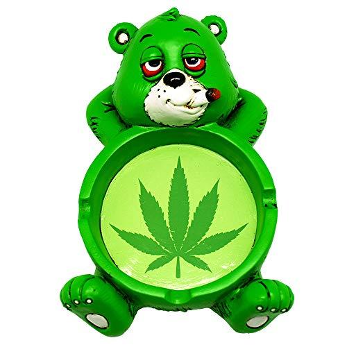 Fantasy Gifts Stoner Bear Polyresin Ashtray - 4'x6'