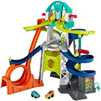 Fisher-Price Little People Launch and Loop Raceway Vehicle Playset for Toddlers and Preschool Kids