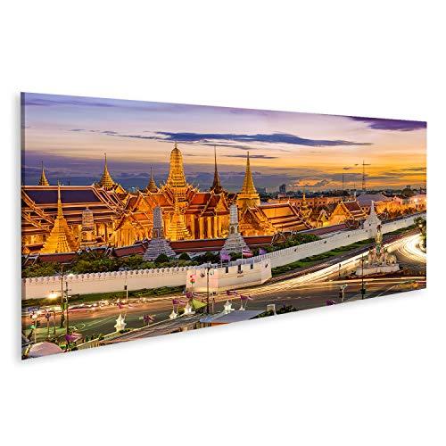 islandburner, Quadro Moderno Bangkok Thailandia al Tempio del Buddha di Smeraldo e al Grand Palace Stampa su Tela Quadri x Salotto Cucina mobili Ufficio casa RRJ