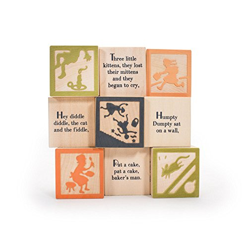 Uncle Goose Nursery Rhyme Blocks - Made in USA by Uncle Goose