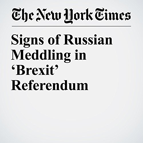 Signs of Russian Meddling in 'Brexit' Referendum copertina