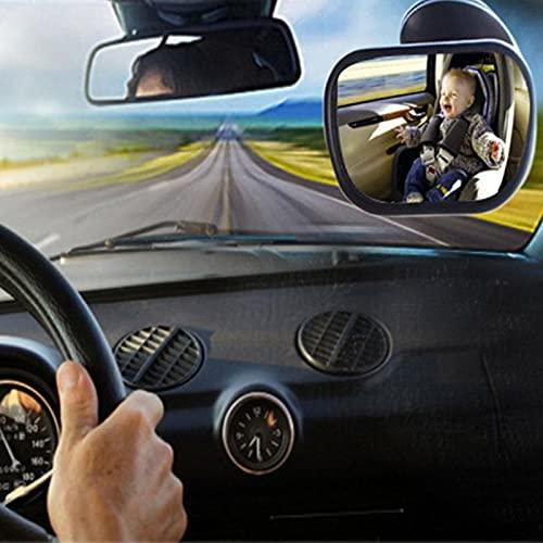 MONALA Espejo retrovisor para bebé en el coche, espejo retrovisor para coche de bebé, asiento de seguridad, espejo trasero con vista de coche para bebé, siempre puedes observar la situación del bebé