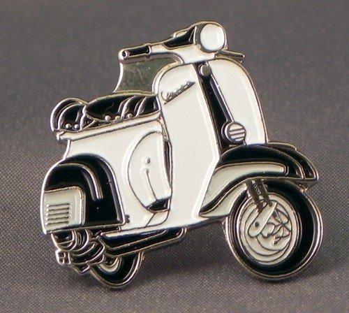 Anstecker, Metall, Emaille, Motorrad, Vespa, Kariert, Oval