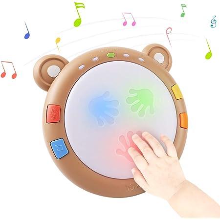 tumama Baby Giocattoli elettronici musicali,I bambini illuminano il tamburo Strumenti musicali per bambini Sensori Giocattoli per bambini Giocattoli musicali Regalo per neonati,bambini,ragazzi,ragazze