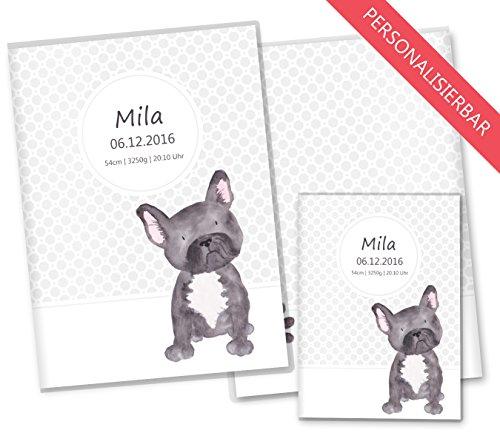 U-Heft Hülle SET Haustiere Untersuchungsheft Hülle & Impfpasshülle schöne Geschenkidee personalisierbar mit Namen und Geburtsdatum (U-Heft Set personalisiert, Hund)