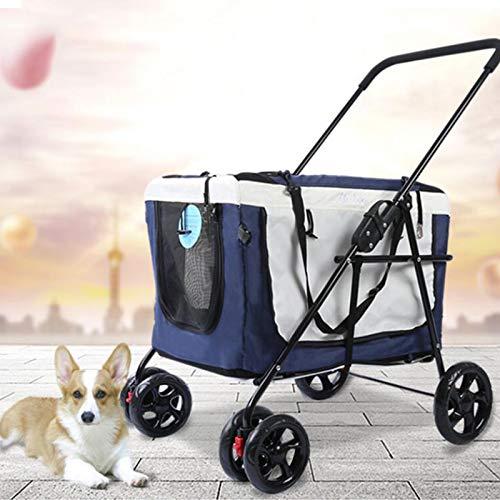 SHIYN Kinderwagen für Haustiere Katze Hundekorb Scharnierhalter Wagenhalter Reisewagen Klappbarer Transportwagen Separation, Lagergewicht 20 kg, Separate Ausführung