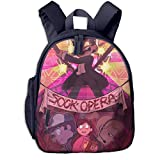 Water Resistant Big Kid Backpack, Sock Opera Gravity Falls Fan Art Student School Bags for Girls Teen Elementary, Trendy Luggage Backpack for Activity Sports