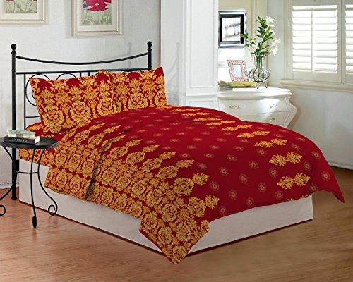 Bombay Dyeing TC-290 - Sábana para cama de matrimonio (274 x 229 cm), color rojo
