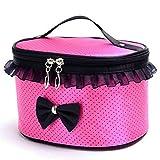 JSPOYOU Portable Travel Toiletry Makeup Cosmetic Bag Organizer Holder Handbag Hot Pink