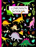 Primary Composition Book Story Journal: Dinosaur lovers Write and Draw for kids   Grades K-2   Dashed Midline With Story Picture Space 100 Pages