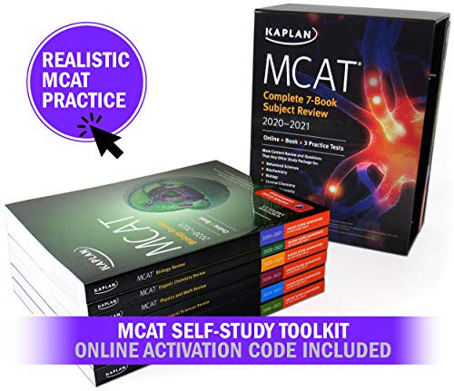 MCAT Self-Study Toolkit 2020-2021: Complete 7-Book Subject Review + 6 Practice Tests + Adaptive Qbank (Kaplan Test Prep)
