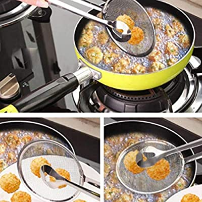 Goodfans New Kitchen Multi-functional Filter Spoon with Clip Food Oil-Frying BBQ Salad Filter Outdoor Cooking Tools & Accessories