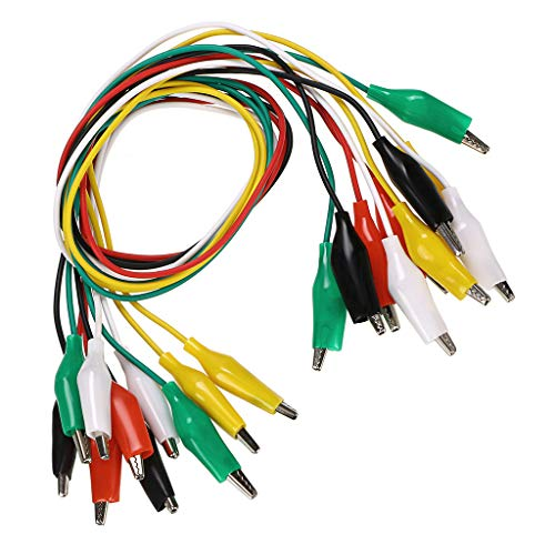 Sumnacon テストリード クリップリード ワニ口クリップ プローブケーブル 絶縁 測定ケーブル プローブテストリード デジタルマルチメーター用 ジャンパーワイヤー 10組セット
