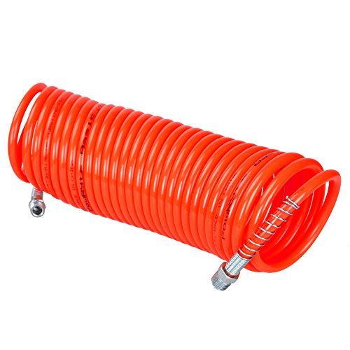 PowRyte Recoil Air Hose - 1/4-Inch by 25-Feet, 1/4-Inch MNPT Ends