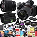 Sony a7III Full Frame Mirrorless Camera with FE 28-70mm F3.5-5.6 OSS Lens Kit ILCE-7M3K/B Bundle with Telephoto and Wide-Angle Lens Set, 2X 64GB Memory Cards, Deco Gear Bag and Accessories (26 Items) by Sony