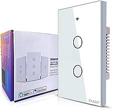 Interruptor Inteligente EKAZA 2 Botões Branco WiFi+BLE+RF
