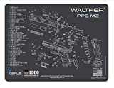 EDOG PPQ Mod 2 Gun Cleaning Mat - Schematic (Exploded View) Diagram Compatible with Walther PPQ Mod2 Pistol 3 mm Padded Pad Protect Your Firearm Magazines Bench Table Surfaces Oil Solvent Resistant