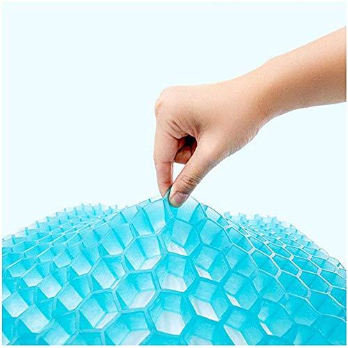 Rzj-njw Silla Transpirable 3D Sitter Almohada De Gel De Silicona De Látex Honeycomb Summer Ice Cool Car Pillow Orthopedic Seat Pad