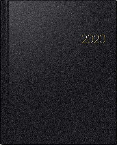 BRUNNEN 107616090 Buchkalender Manager Wt 7 - weektimer (2 Seiten = 1 Woche, 21 x 26 cm, Balacron-Einband, Kalendarium 2020) schwarz