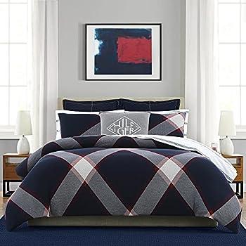 Tommy Hilfiger Club Comforter Set Full/Queen Navy