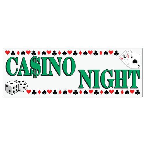 Beistle Casino Night Schild Banner, 1,5 m x 53,3 cm