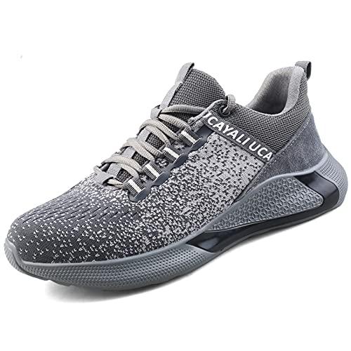 UCAYALI Zapato de Seguridad Calzado de protección Hombre Adultos Unisex Gris/Negro 45