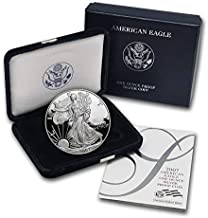 2007 W Proof American Eagle Silver Dollar with Original Packaging and COA $1 PR DCAM US Mint