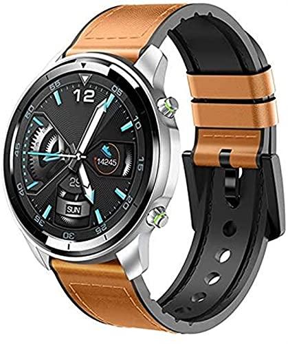 TCHENG Hombres Smart Watch Dial de cerámica 1.3 Touch Completo 360 * 360 HD Pantalla HD SmartWatch Fitness Tracker Tasa del corazón Pulsera Deportiva (Color : Brown)