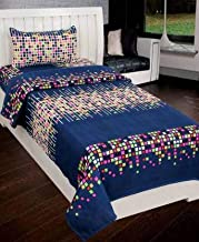 ZATCHBELL Bedsheet for Single Bed with 1 Pillow Cover Set , Bedsheet Size [60x90 Inch] and Pillow [17x27 inch]