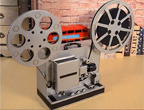 AZLMJXH Retro statiefcamera ornamenten, projector camera vloerdecoratie koffie winkel meubels rekwisieten creatieve decoraties projector zilver 51 * 69 * 18