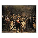CanvasArts Die Nachtwache - Rembrandt - Poster (60 x 50 cm,