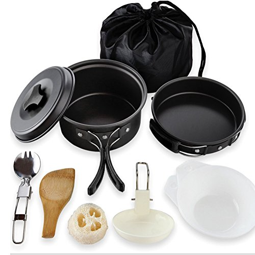 Creation Acampar Kit de utensilios de cocina