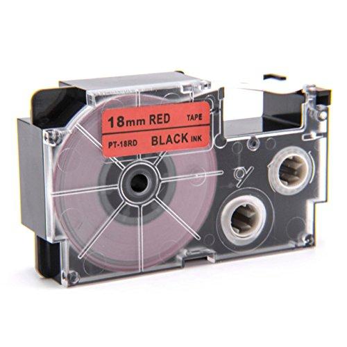 vhbw Kassette Patronen Schriftband 18mm kompatibel mit Casio KL-60, KL-120, KL-70E, KL-100E, KL-300, KL-750E, KL-780, KL-1500, KL-7000 Ersatz für XR-18RD, XR-18RD1.
