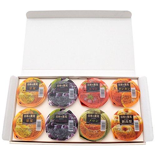 【九州旬食館】 日本の果実 フルーツ ゼリー 6種 8個入り( 甘夏 トマト タンカン メロン ブルーベリー 新高 梨 ) 詰め合わせ ギフト セット