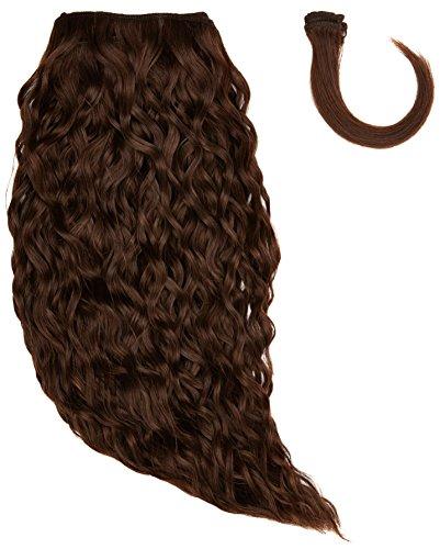 Sans chear vague trame Extension de cheveux humains avec de mélange tissage, numéro 4, Taille M, marron foncé 35,6 cm