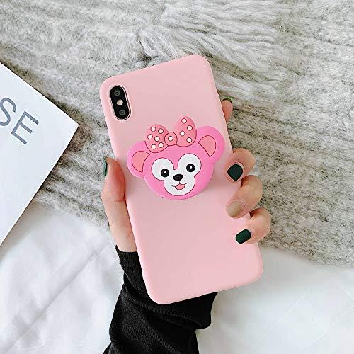 LUOKAOO 3D Cute Cartoo Soft Phone Hülle für iPhone X XR XS 11 Pro Max 6S 7 8 Plus Halter Abdeckung für Samsung S8 S9 S10 Hinweis, E, für iPhone 11Pro