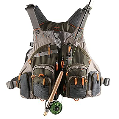 Mesh Fly Fishing Vest (Adjustable Size) from Generic