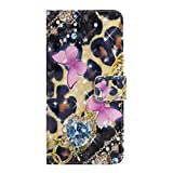Shukukan Sony XZ3 Phone Case, 3D Diamond Butterfly Cute