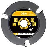 Hoja de sierra de carburo de 115 mm, OBA amoladora angular de 4.5' hoja de sierra circular para cortar madera,talla de madera, disco amoladora madera,3 dientes, 22,2 mm de diámetro