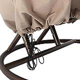 Home Deluxe - Polyrattan Hängesessel - Twin weiß mit Regenabdeckung - inkl. Gestell, Sitz- und Rückenkissen - 5