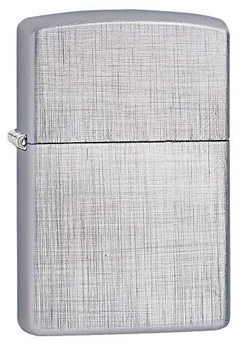 Zippo Linen Weave Pocket Lighter, Brushed Chrome Linen Weave, One Size Alaska